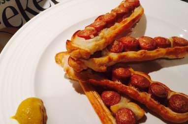 Sausages rolls et cheddar twisties