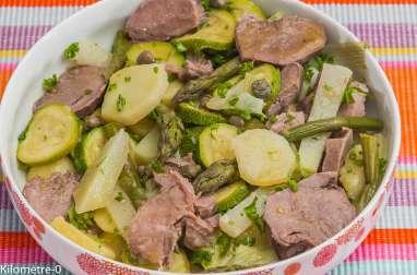 Salade de langue de porc aux légumes de printemps