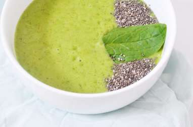 Green Smoothie : banane, épinards, kiwi