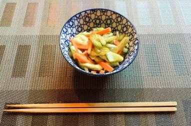 Salade de céleri et de carottes japonaise
