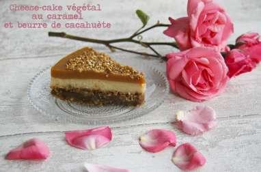 Cheesecake au caramel et beurre de cacahuète
