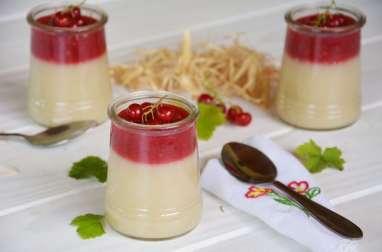 Crème d'amande au coulis de groseilles vegan