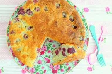 Gâteau cerises rhubarbe