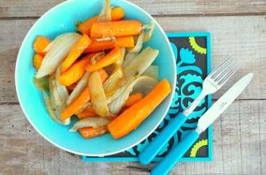 Carottes et fenouil caramélisés au cumin