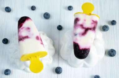 Esquimaux myrtilles et yaourt sans sorbetière