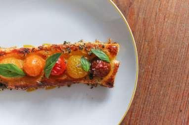 Tartelette toute simple aux tomates cerise