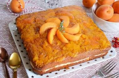 Gâteau au yaourt fourré crème abricot frais