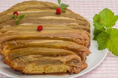 Gâteau moelleux renversé à la rhubarbe