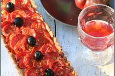 Tarte à la tomate et amandes