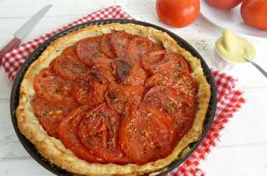 Tarte rapide à la tomate et moutarde