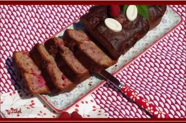 Cake framboise et chocolat blanc