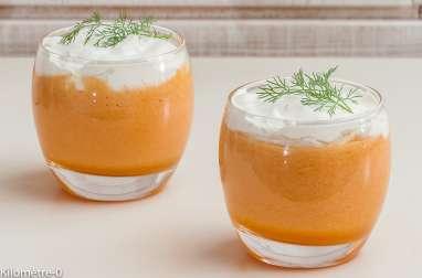 Soupe de melon, chantilly à l'aneth