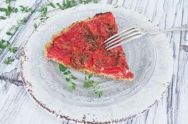 Tarte à la tomate moutarde et farine petit épeautre