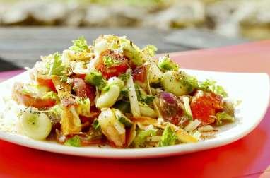 Salade composée alcaline d'été « spéciale belle peau »