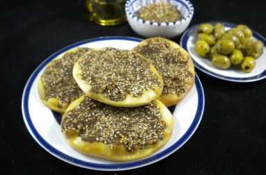 Man'ouché ou mana'ich : petites pizzas libanaises au zaatar