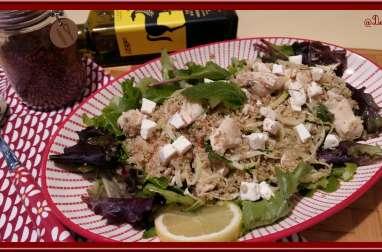 Salade de poulet quinoa et menthe