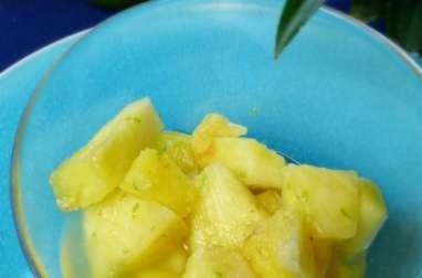 Salade d'ananas au citron vert