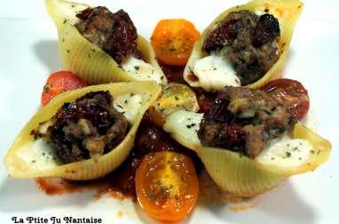 Conchiglionis d'agneau aux saveurs italiennes