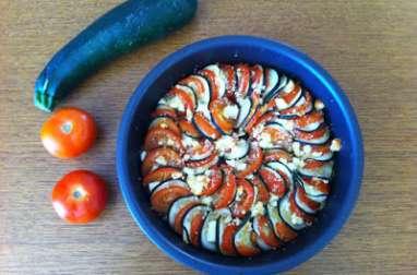 Tian de légumes - courgettes, tomates et feta