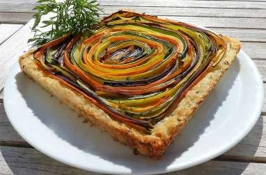 Tarte spirale aux légumes en croûte de riz