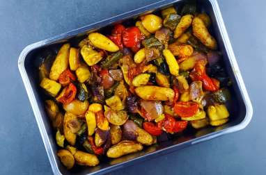 Légumes rôtis aux citrons confits et épices orientales