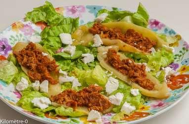 Salade de poivrons grillés au thon et à la fêta