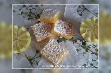 Carré fondant au citron