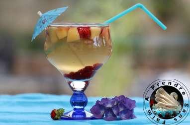 Eau de coco pêches et fruits rouges