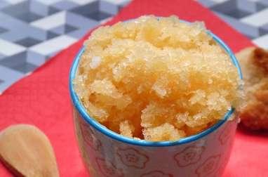Granité de melon miel épicé au gingembre