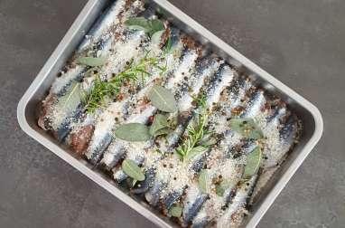 Sardines marinées au sel à la plancha
