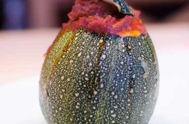 Courgettes rondes farcies à la bolognaise