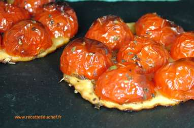 Tartelette aux tomates cerises