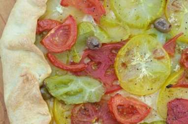 Tarte rustique aux tomates anciennes