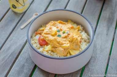 Curry de lieu jaune et boulgour