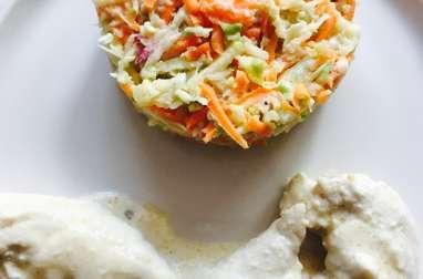 Poulet mariné et son coleslaw maison