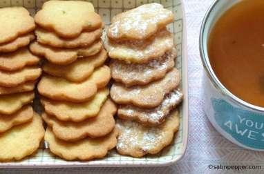 Biscuits citron vert basilic