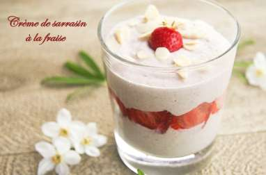 Crème de sarrasin à la fraise