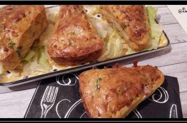 Mini-cakes au bacon et pousses d'epinards