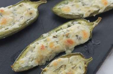 Piments jalapeños farcis au fromage à la crème