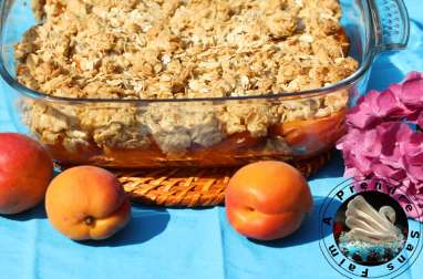 Crumble d'abricots aux flocons d'avoine