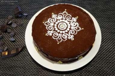Le gâteau double chocolat