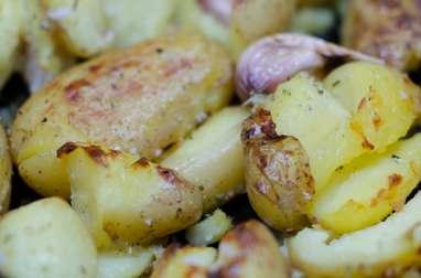 Pommes de terre tapées, à l'ail et à l'origan