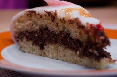 Gâteau d'anniversaire fourré au Nutella