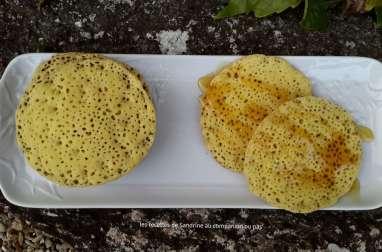 Crêpes aux mille trous ou baghrir recette facile