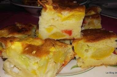 """""""Gâteau"""" courgette,chorizo et feta"""