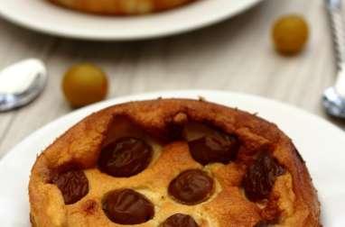 Gâteau au fromage blanc et mirabelles