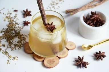 Cocktail au thé réglisse orgeat