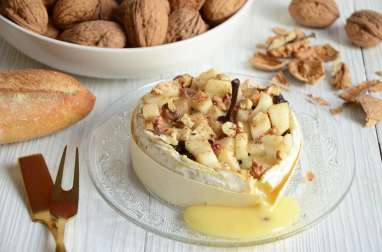 Camembert poire et noix