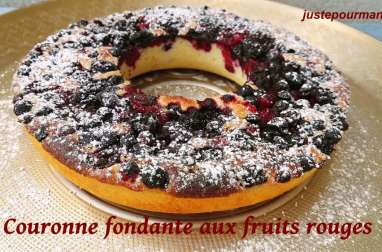 Couronne fondante aux fruits rouges