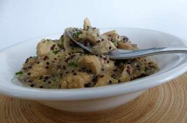 """Quinoa au poulet et aux champignons, façon """"one pot"""""""